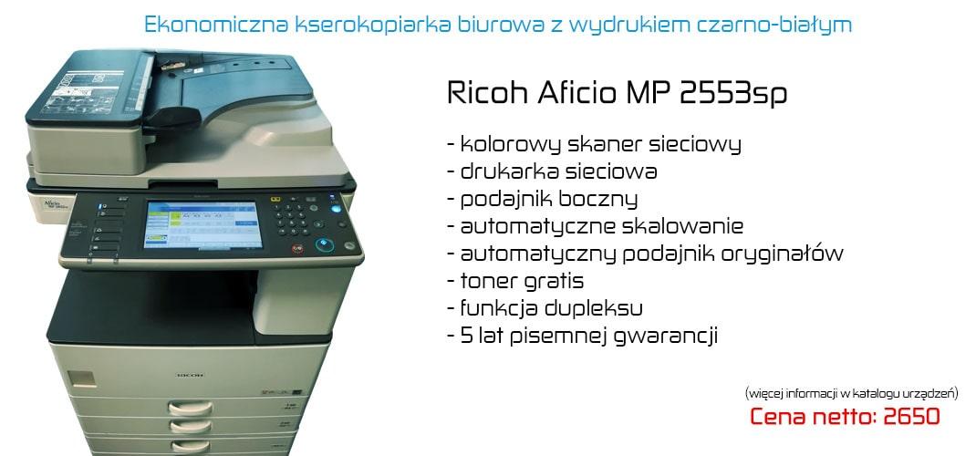 Kserokopiarka mono dla biur Ricoh mp 2553
