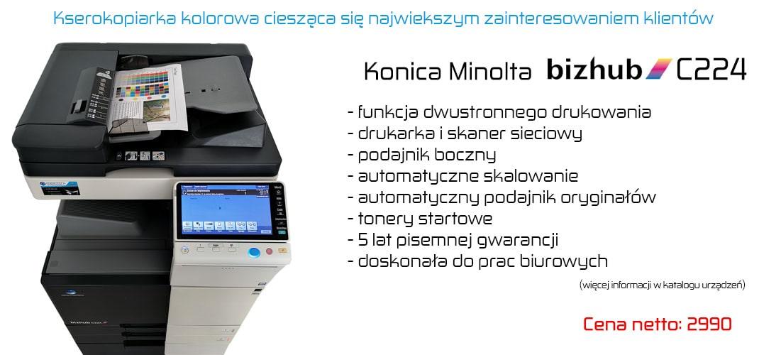 Kserokopiarka kolorowa do biura Bizhub C224